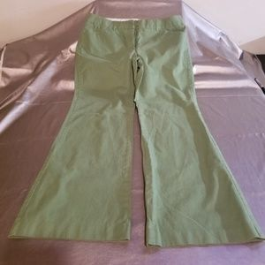 "Express ""Editor"" Green Falre Trouser Pants"